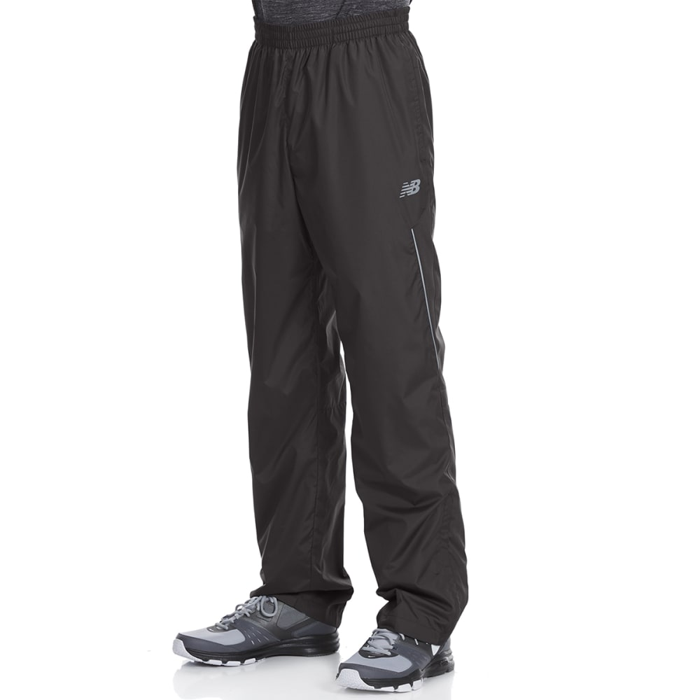 NEW BALANCE Men's Wind Pants with Mesh Trim - BLACK-BK001