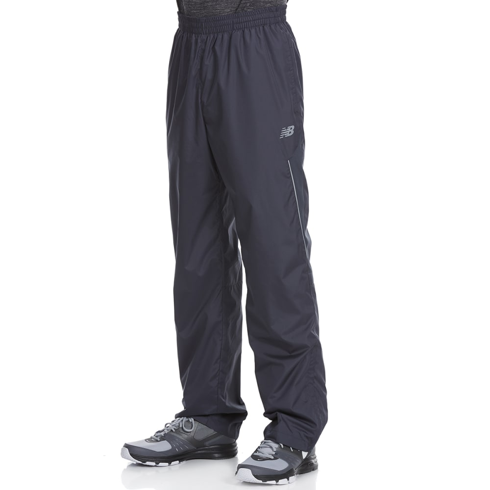 NEW BALANCE Men's Wind Pants with Mesh Trim - THUNDER GREY