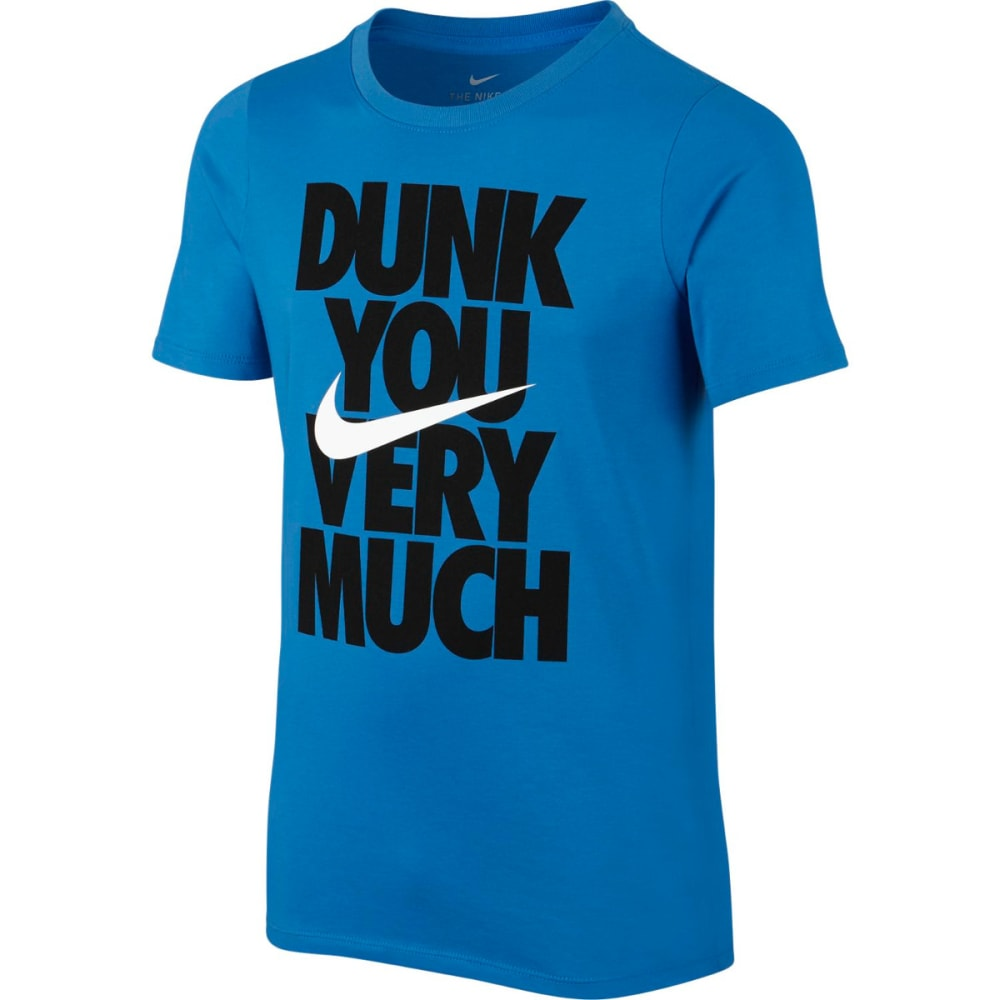 NIKE Big Boys' Dry Dunk You Short-Sleeve Tee S