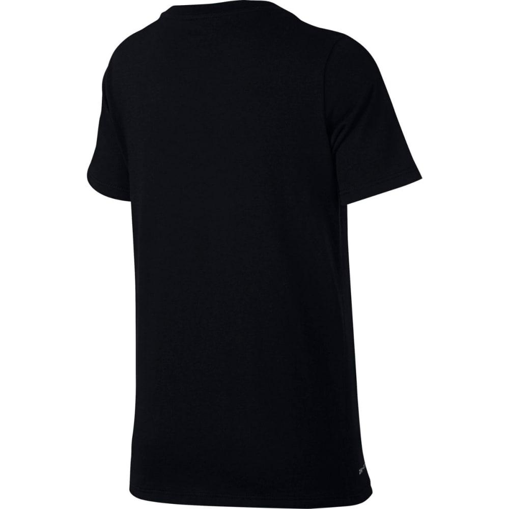 NIKE Big Boys' Dry I'm All Day Short-Sleeve Tee - BLACK/WHITE-010