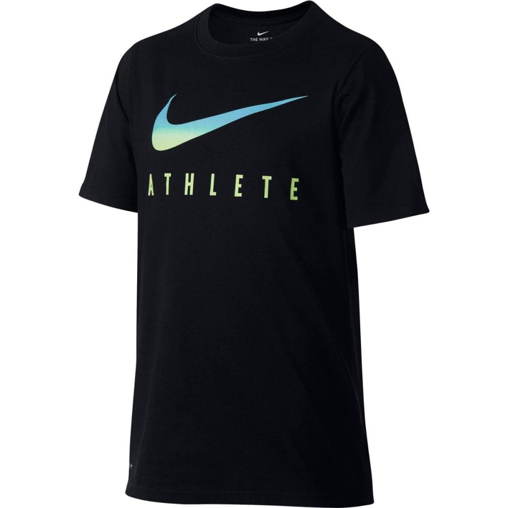 NIKE Big Boys' Dry Swoosh Athlete Short-Sleeve Tee S