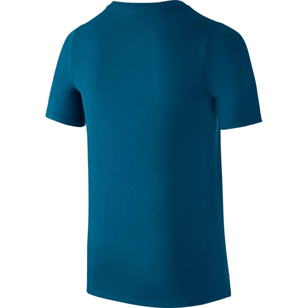 NIKE Big Boys' Dry Swoosh Athlete Short-Sleeve Tee - INDUSTRLBLU/GGRN-457