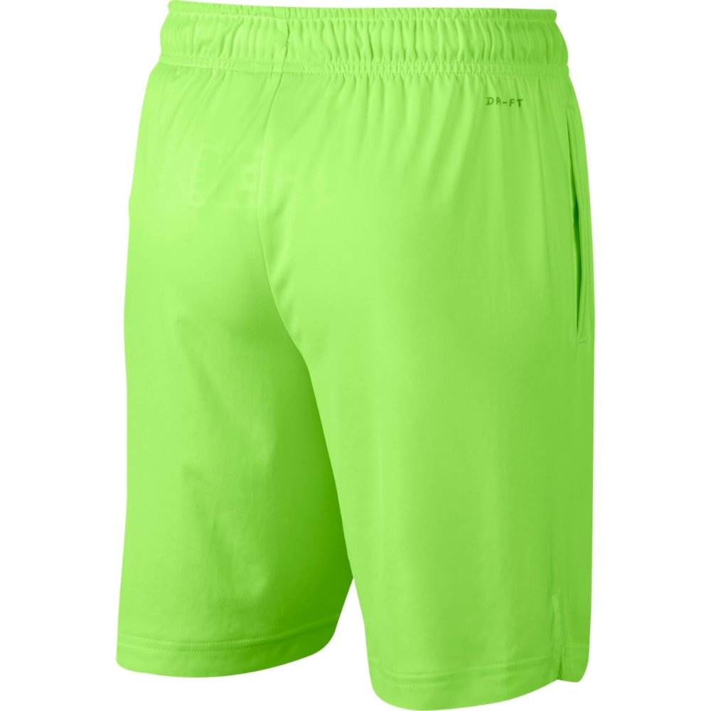 NIKE Big Boys' 8 in. Dry Graphic Shorts - GHOST GRN/BLK-367
