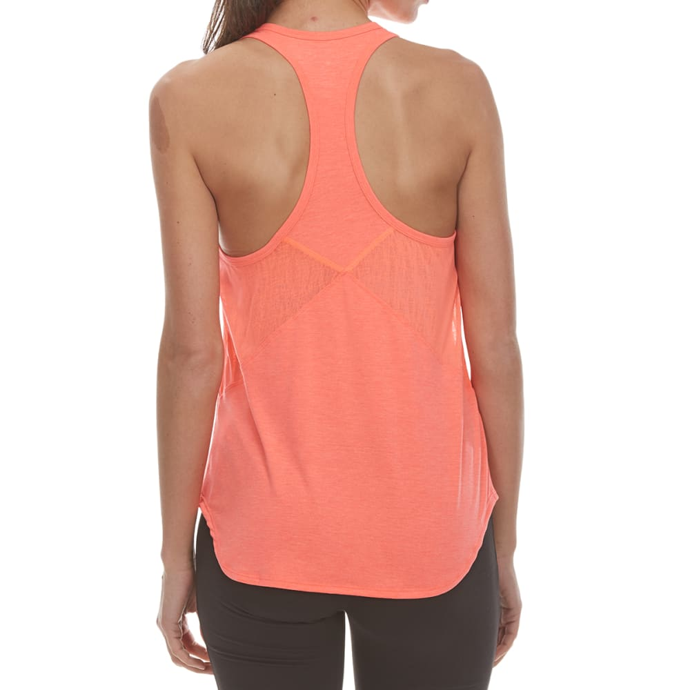 LAYER 8 Women's Soft Striated Lightweight Tank Top - ELECTRIC CORAL