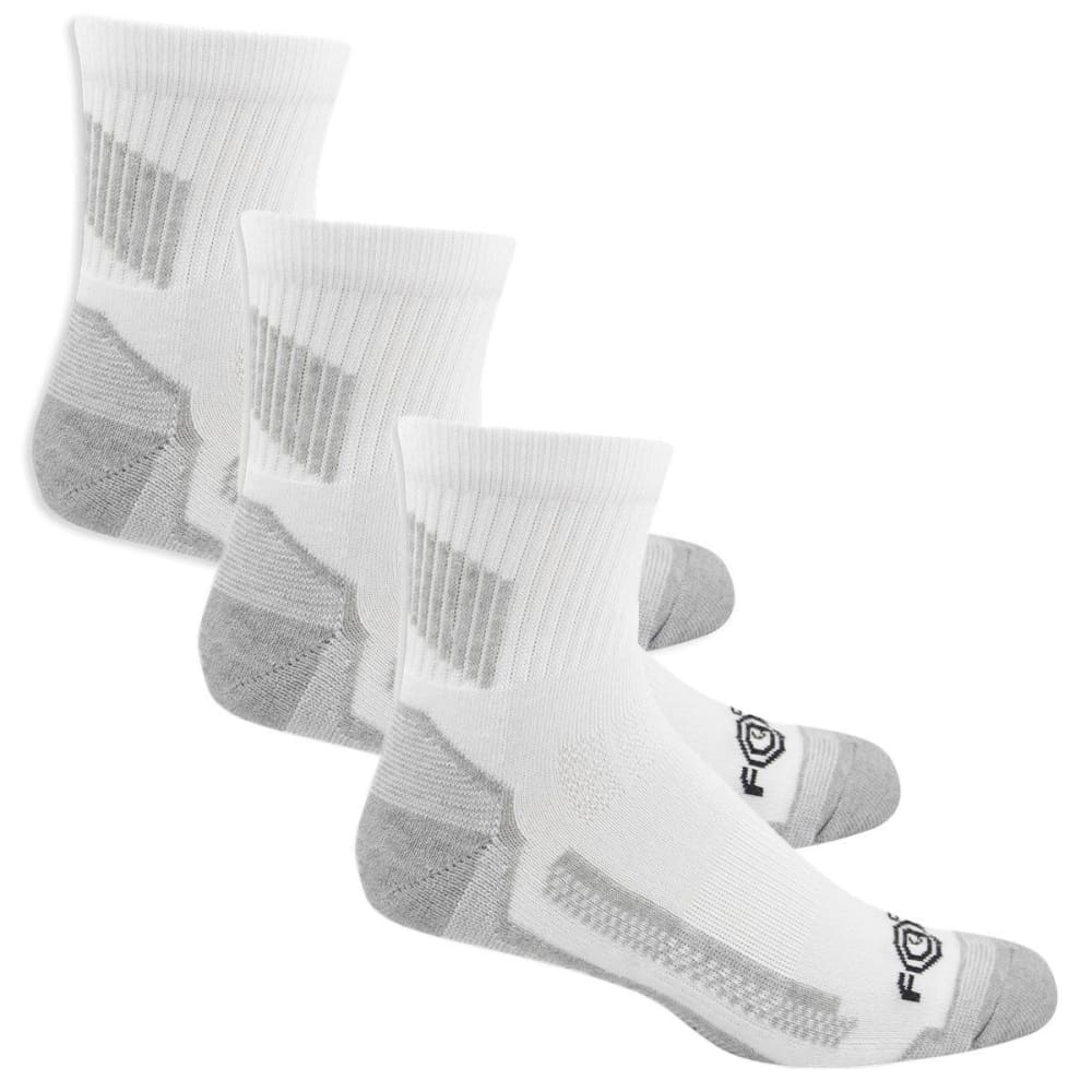 Carhartt Men's Force High Performance Work Quarter Socks, 3 Pack - White, L