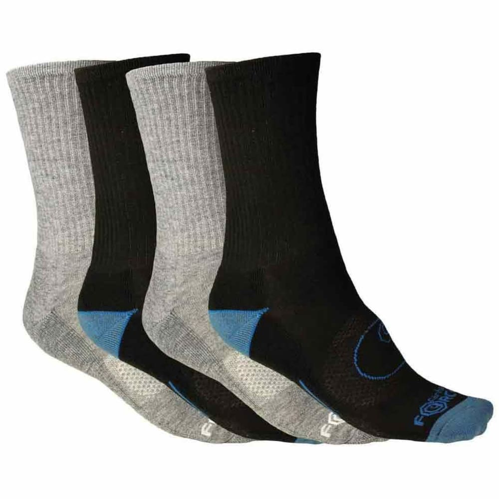 CARHARTT Men's Force® Crew Socks, 4 Pack - A495-4 BG/BB
