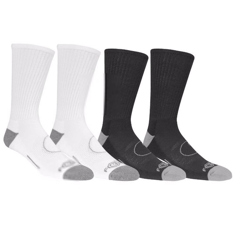 CARHARTT Men's Force® Crew Socks, 4 Pack - A495-4 BK/WG