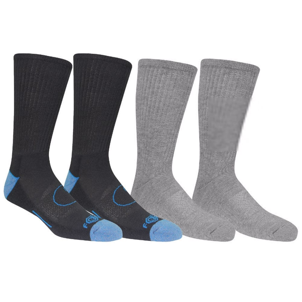 CARHARTT Men's Force® Crew Socks, 4 Pack - A495-4 BL/GY