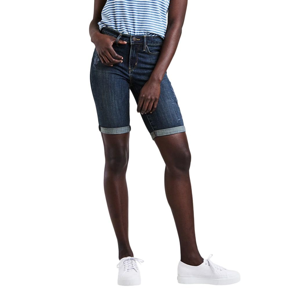 LEVI'S Women's Bermuda Shorts - 0014-SOFTLY WORN IN
