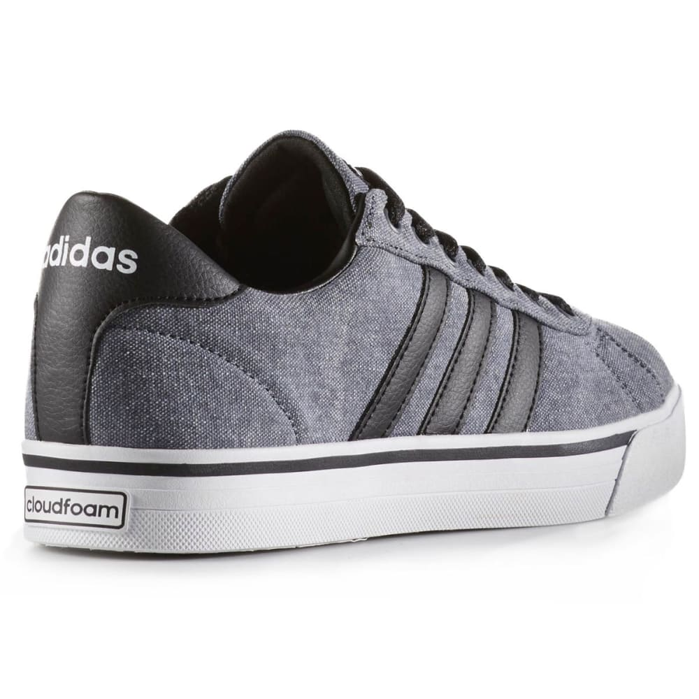 ADIDAS Men's Cloudfoam Super Daily Canvas Skate Shoes, Black/White - BLACK