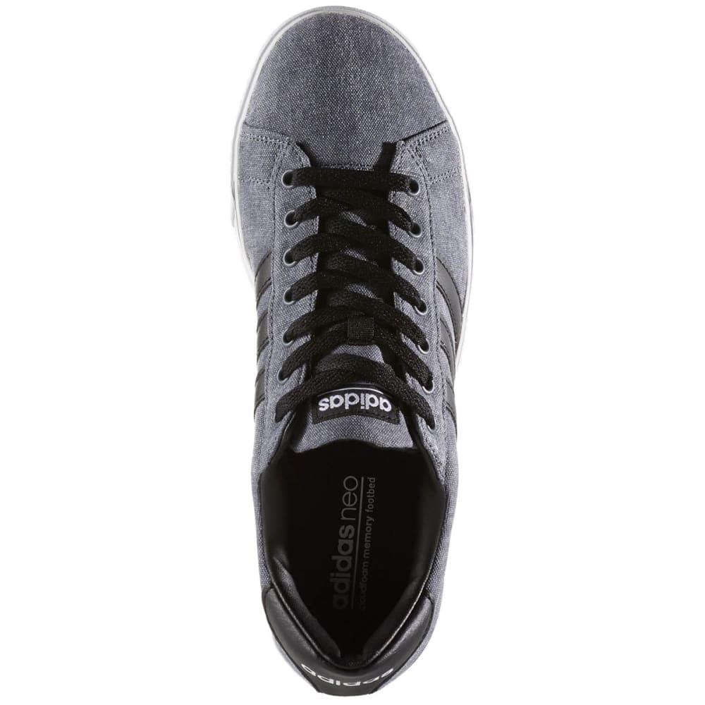 ADIDAS Men's Cloudfoam Super Daily Canvas Skate Shoes, Black/White - BLACK