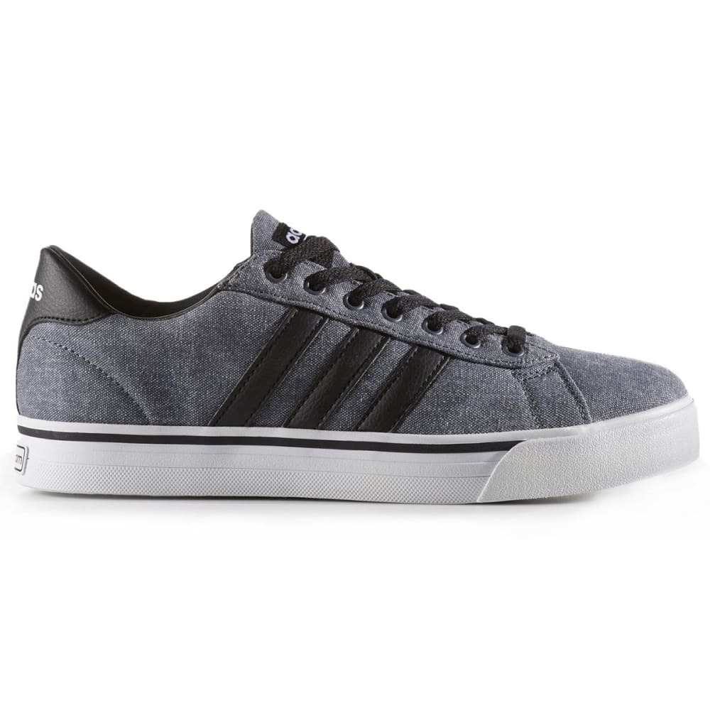 Adidas Men's Cloudfoam Super Daily Canvas Skate Shoes, Black/white