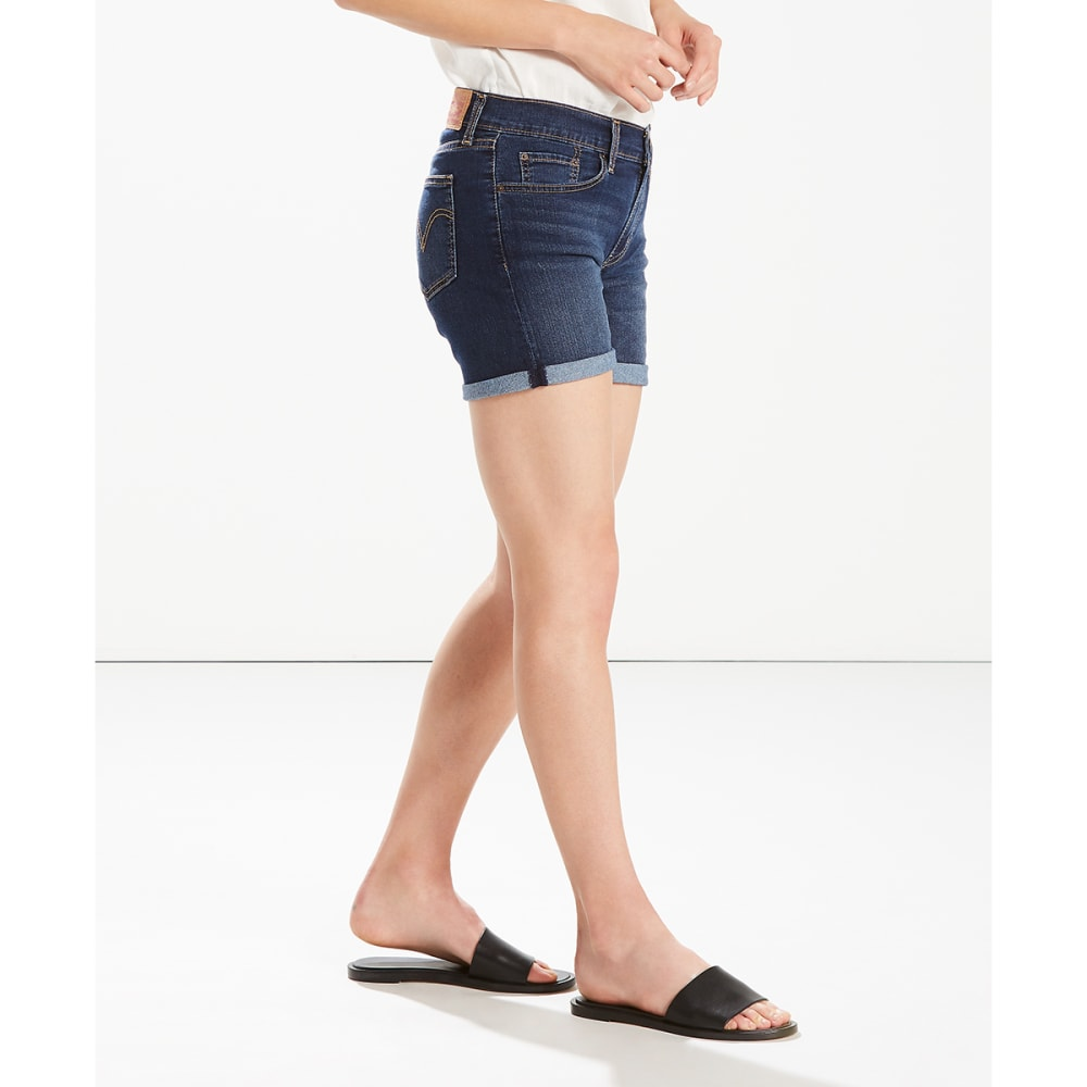LEVI'S Women's Mid-Length Shorts - 0013-LOST BLUES