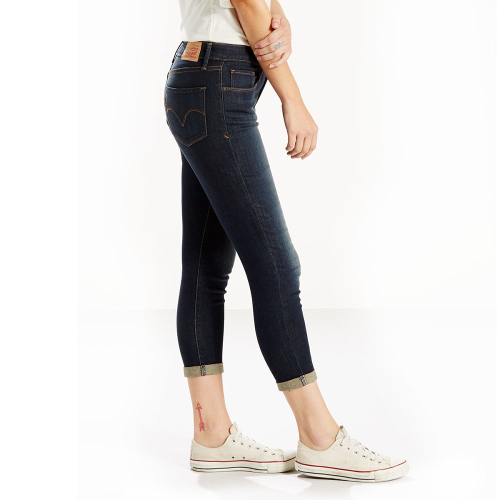 LEVI'S Women's Midrise Skinny Cropped Jeans - 0015-PACIFIC STREET