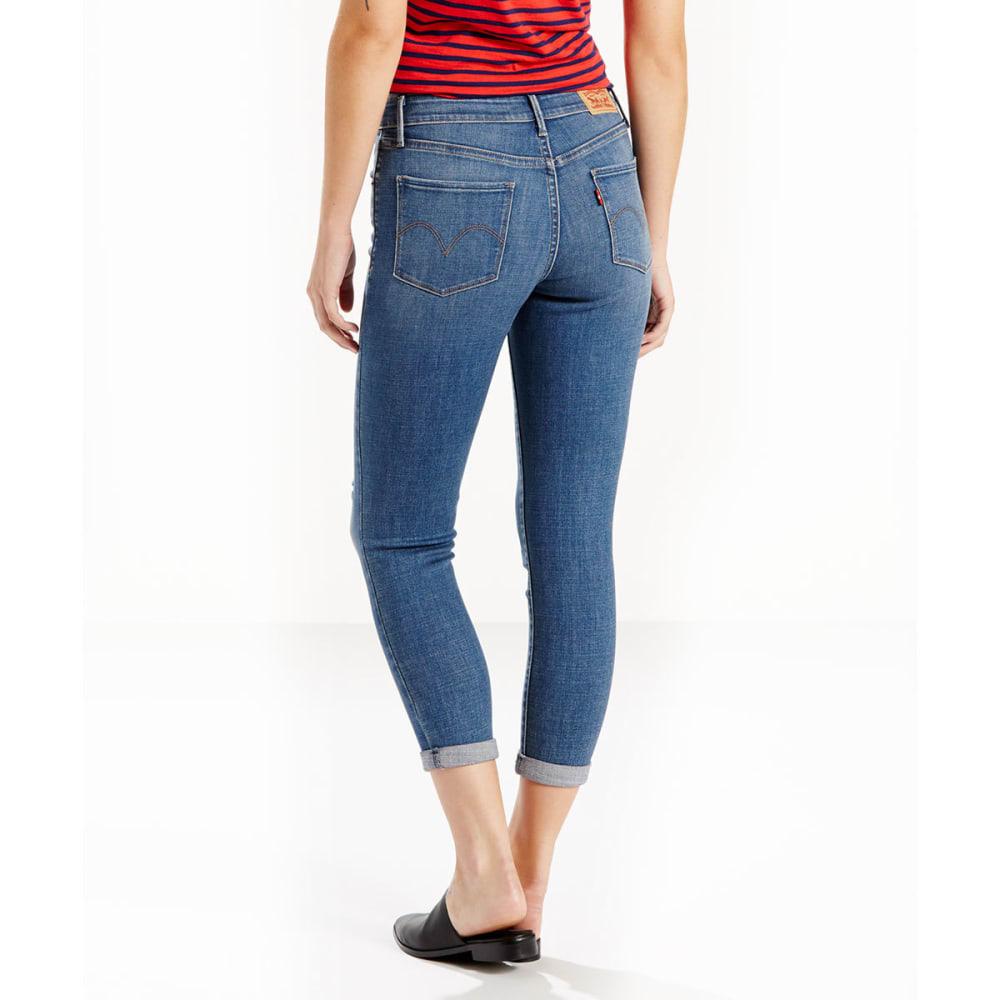 LEVI'S Women's Midrise Skinny Cropped Jeans - 0017-INDIGO BEAT