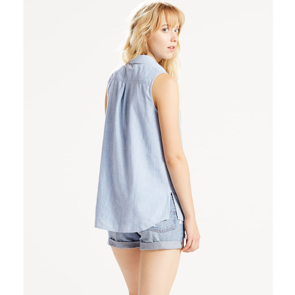LEVI'S Women's Joni Sleeveless Shirt - 0003-SUPER LIGHT AUT