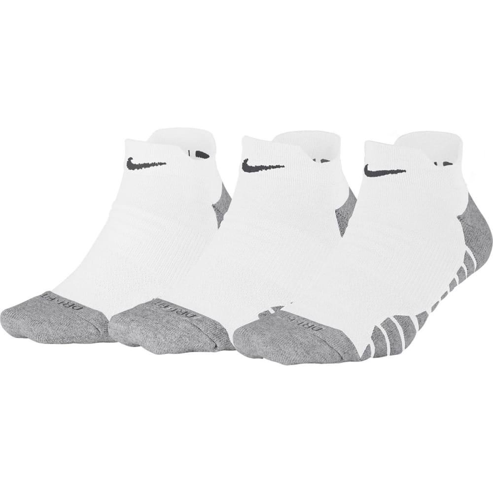 NIKE Women's Dry Cushion Low Training Socks, 3 Pairs - WHITE 100