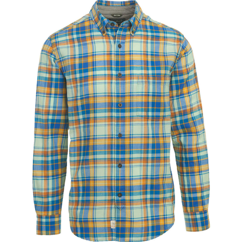 WOOLRICH Men's Oak Springs Eco Rich Plaid Shirt, Modern Fit - SUMMER SKY