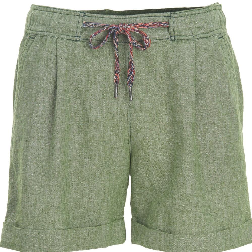 WOOLRICH Women's Outside Air Eco Rich Linen Blend Shorts - MOSS