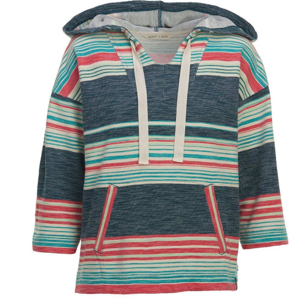 WOOLRICH Women's Quinn River Eco Rich Poncho Hoodie - HARBOR