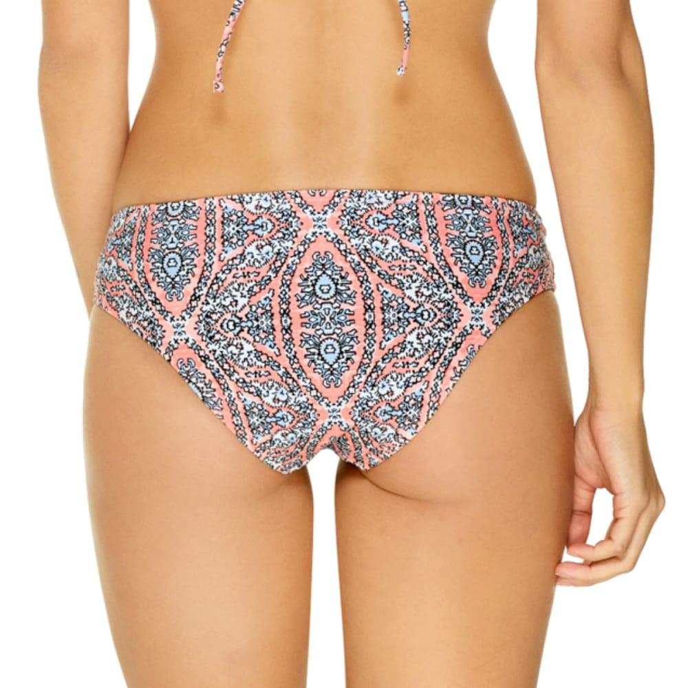 GOTTEX Juniors' Movin On Up Moroccan Tile Wide Cheeky Bikini Bottoms - PEACH MULTI