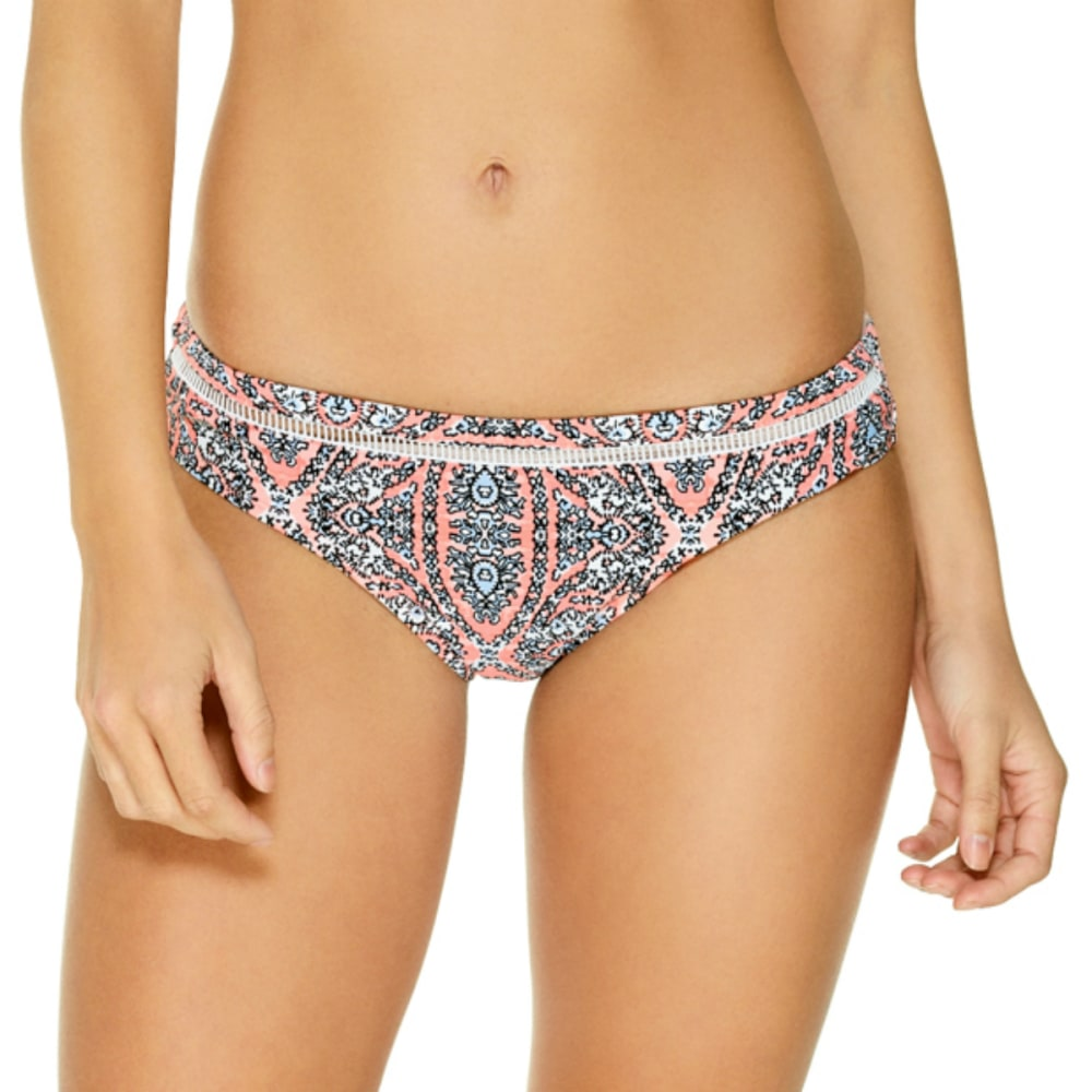 GOTTEX Juniors' Movin On Up Moroccan Tile Wide Cheeky Bikini Bottoms - PEACH MULTI