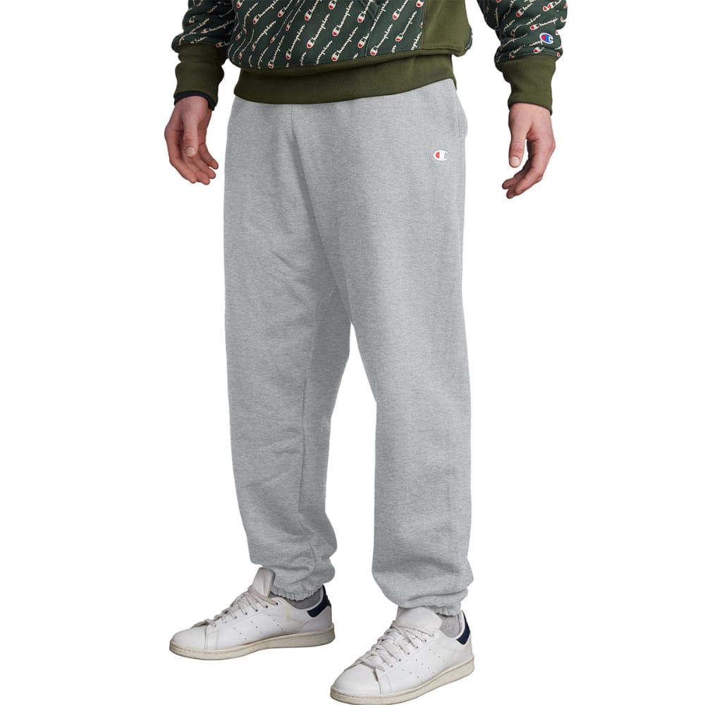 CHAMPION Men's LIFE Reverse Weave Closed-Bottom Sweatpants - OXFORD GREY-1IC