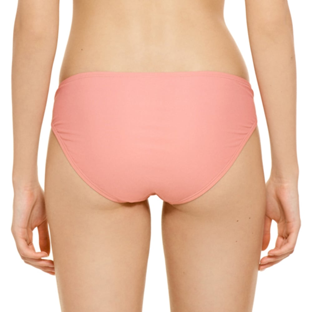 99 DEGREES Juniors' On Point Biadere Laced Hipster Bikini Bottoms - PEACH MULTI
