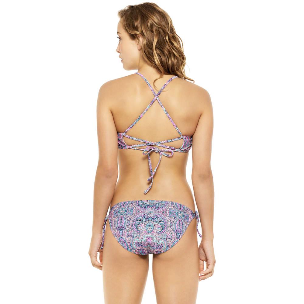 HOT WATER Joy Parade Paisley Triangle Bikini Top - PINK MULTI