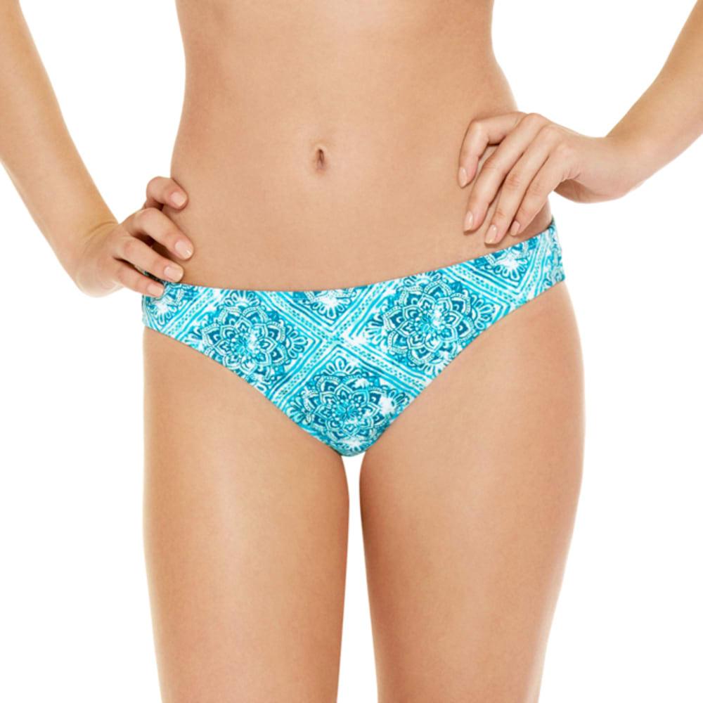 95 DEGREES Juniors' Retro Daze Tile Print Bikini Bottoms - TURQUOISE MULTI