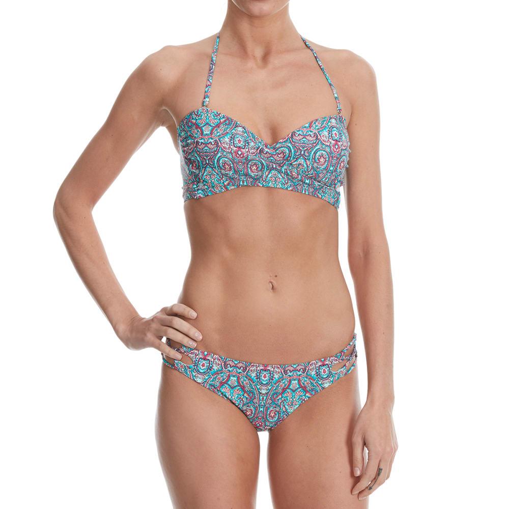 95 DEGREES Juniors' Bellisima Paisley Bandeau Bikini Top - MINT MULTI