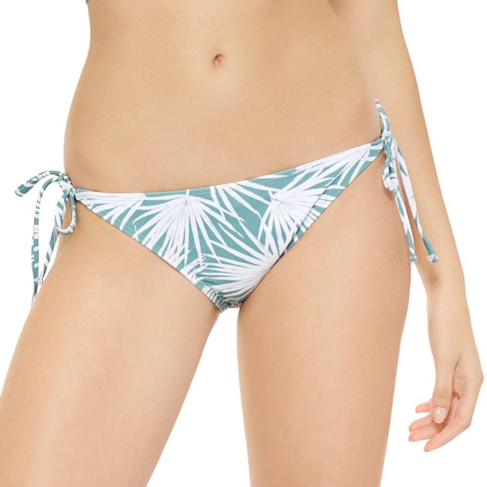 99 DEGREES Juniors' Under Wraps Palm Tie-Side Bikini Bottoms - GREEN PRINT