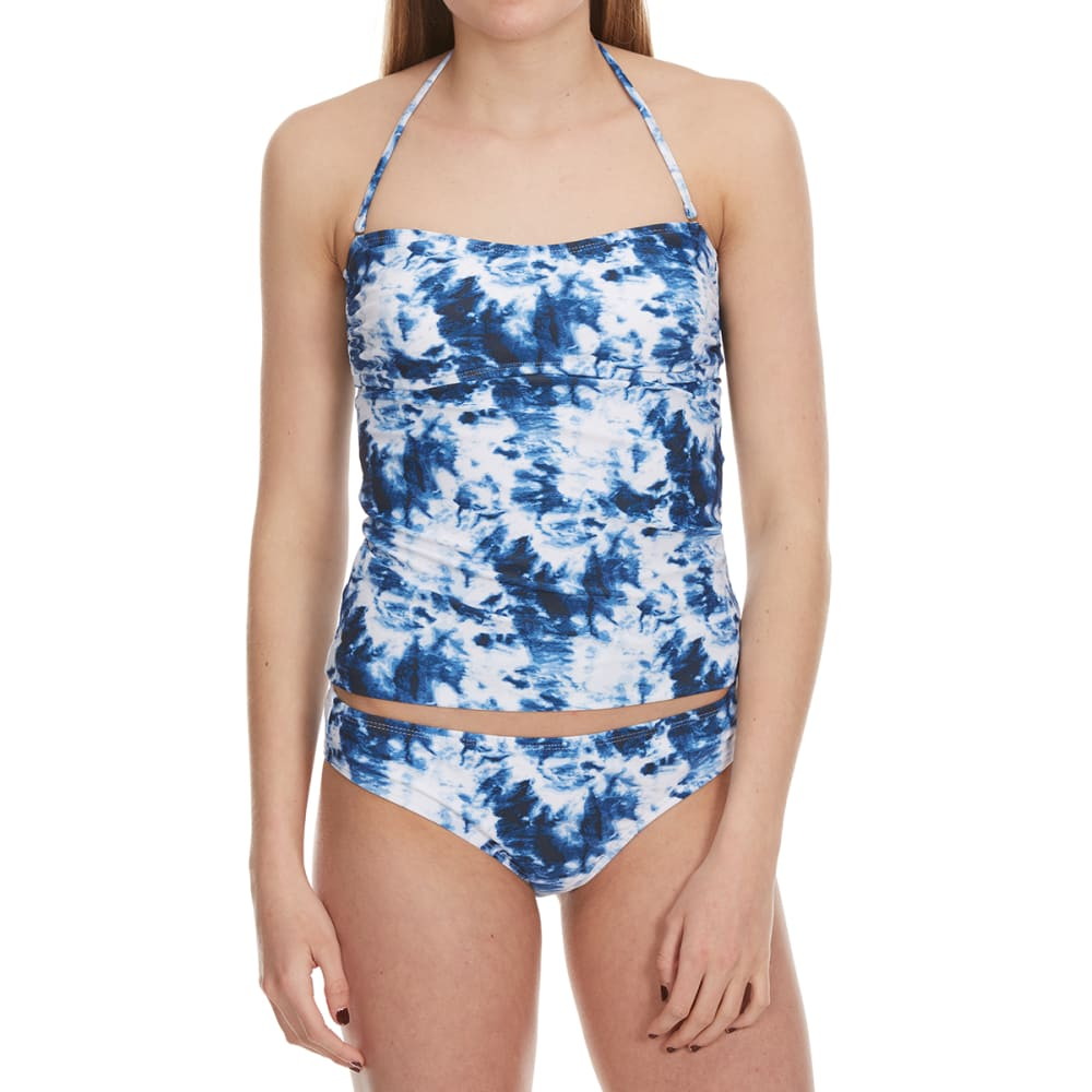 HOT WATER Juniors' Stellar Tie-Dye Bandeaukini Top - BLUE PRINT