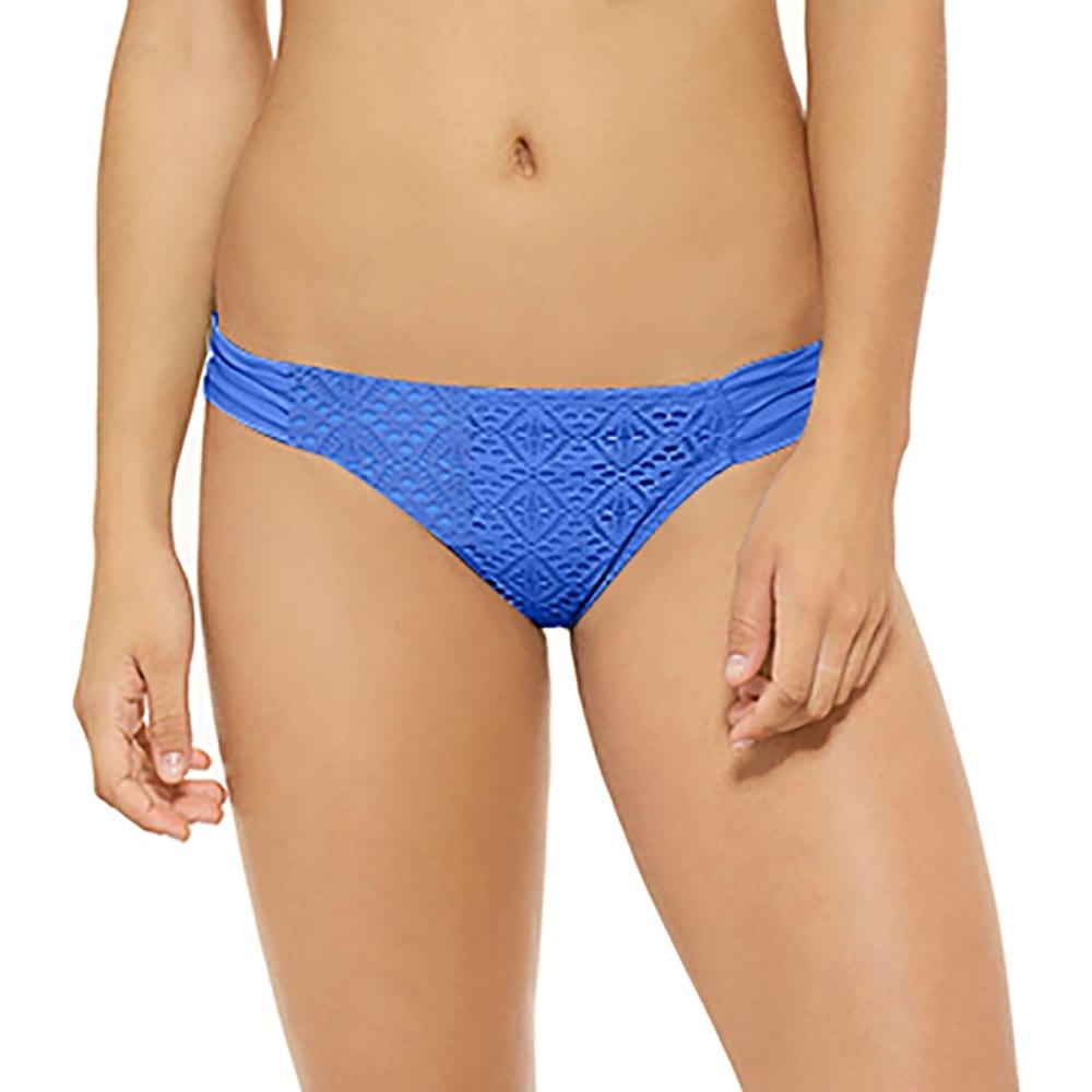 HOT WATER Juniors' Swept Away Crochet Soft Tab Bikini Bottoms - MAYA