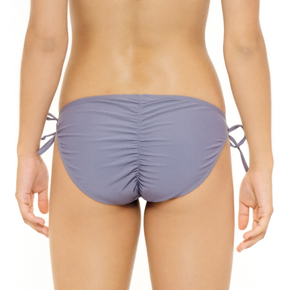 HOT WATER Juniors' Ocean Ave Keyhole Shirred Back Bottom - PEWTER