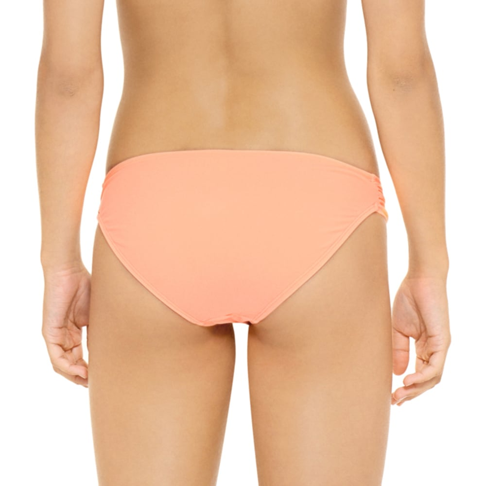 HOT WATER Juniors' Ocean Ave Soft Tab Bikini Bottoms - GRAPEFRUIT