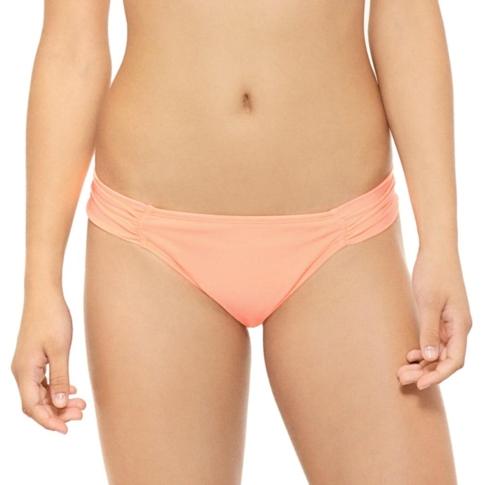 HOT WATER Juniors' Ocean Ave Soft Tab Bikini Bottoms - GRAPEFRUIT