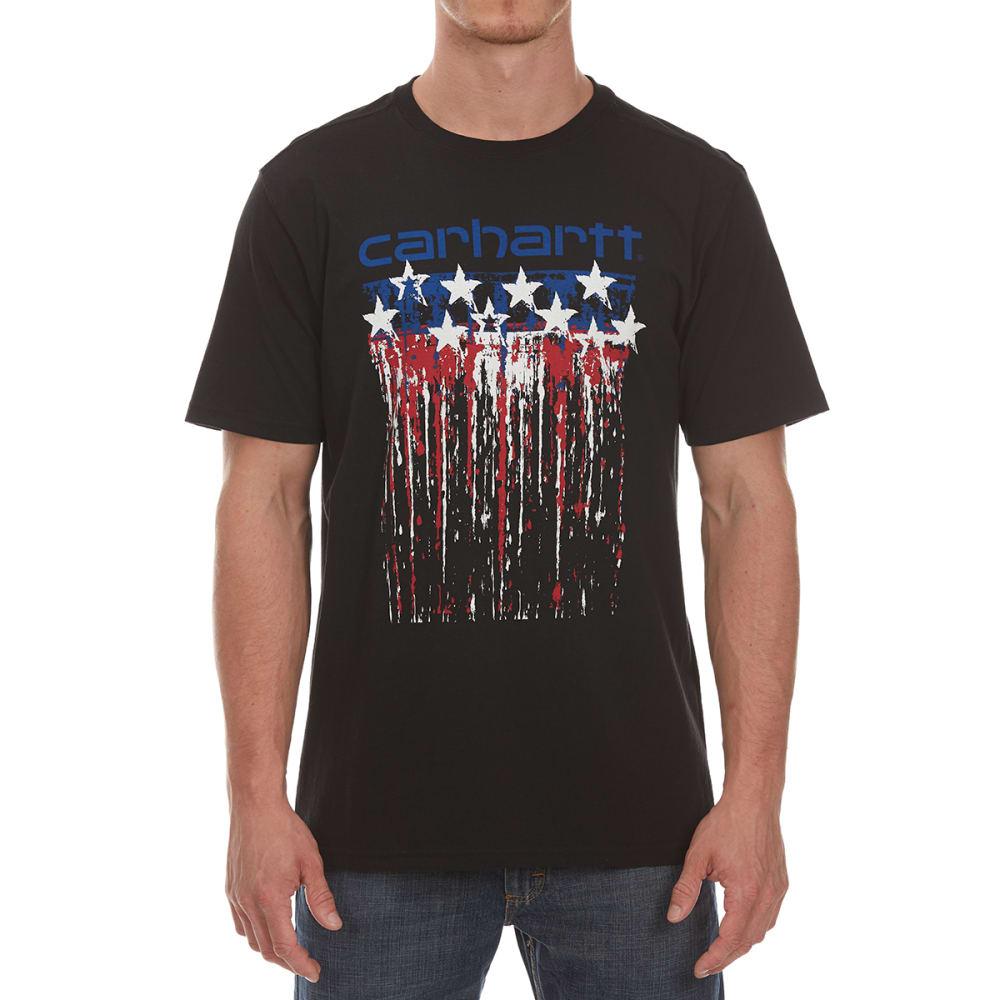 Carhartt Men's Mto Drip Paint Americana Graphic Short-Sleeve Tee - Black, M