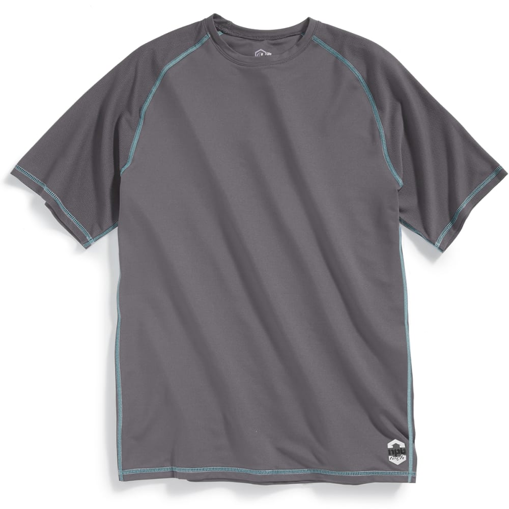 NEWPORT BLUE Men's Nailhead Short-Sleeve Rashguard Tee - SMOKE - 0033