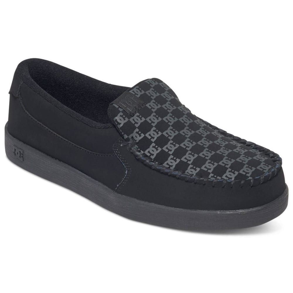 DC SHOES Men's Villain Slip-On Shoes - Black, 7.5