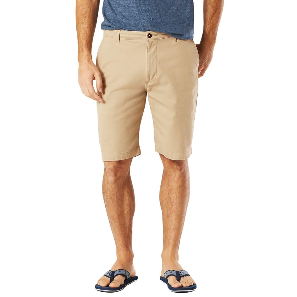 DOCKERS Men's Perfect Classic Flat-Front Shorts - SAND DUNE - 0661