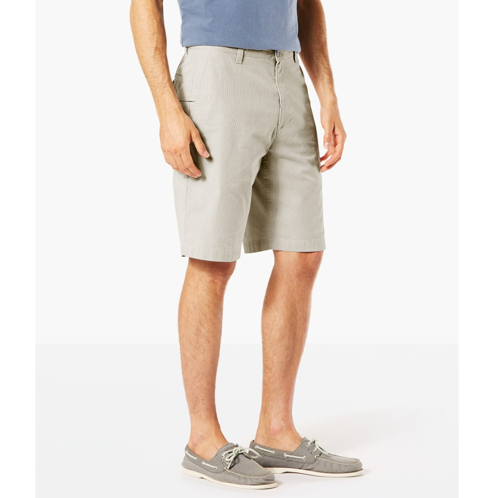 DOCKERS Men's Perfect Classic Flat-Front Shorts - PORCELAIN KHAKI-0660