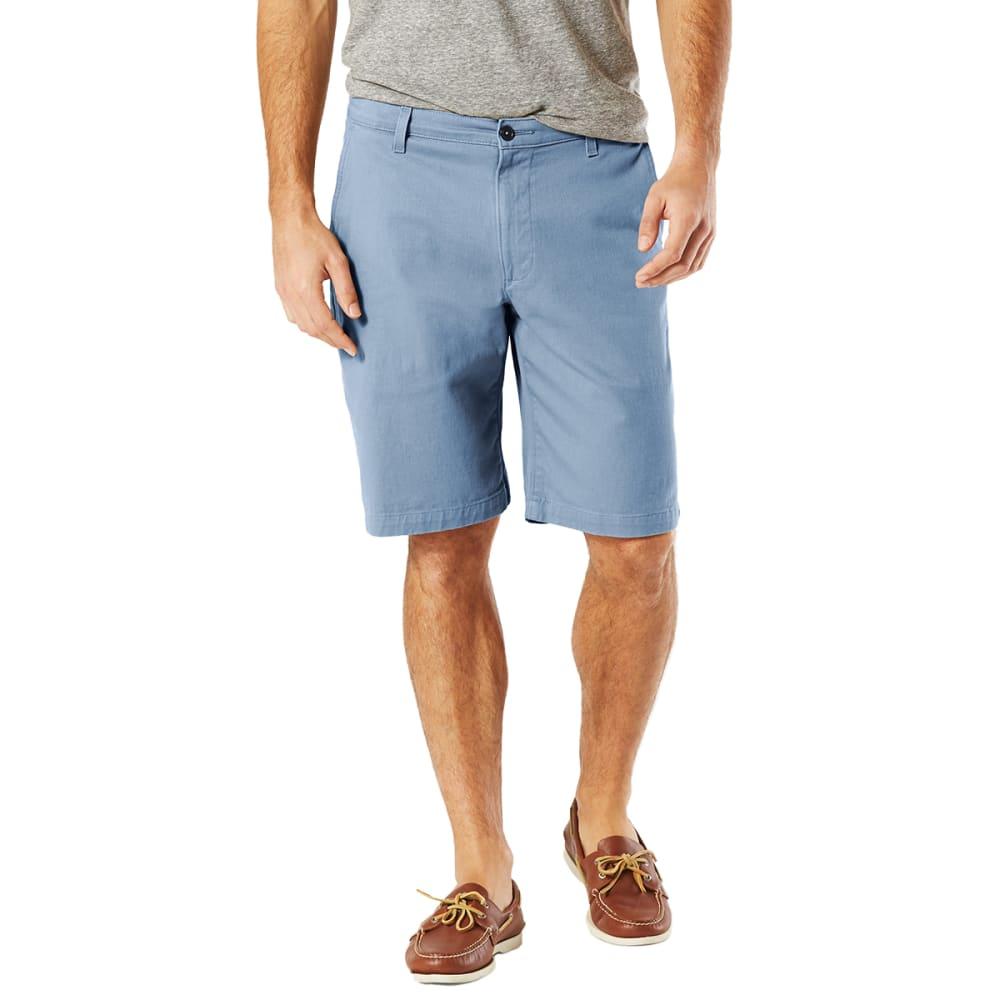 DOCKERS Men's Perfect Classic Flat-Front Shorts - COPPEN BLUE - 0626