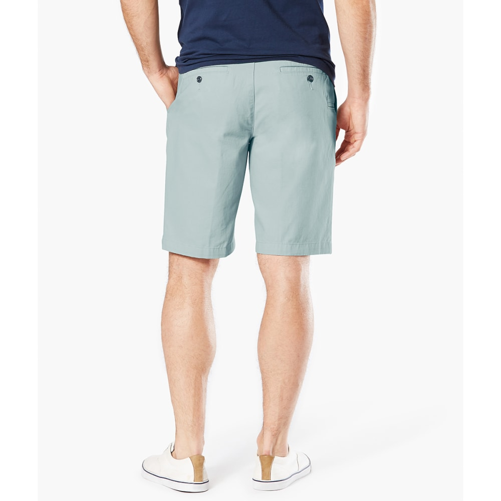 DOCKERS Men's Perfect Classic Flat-Front Shorts - STORMY SEA-0732