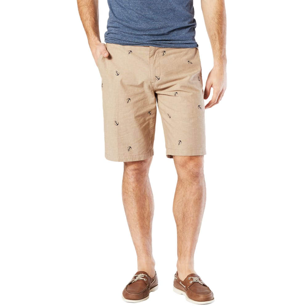 DOCKERS Men's Perfect Print Flat-Front Shorts - PISMO ANCHOR - 0669