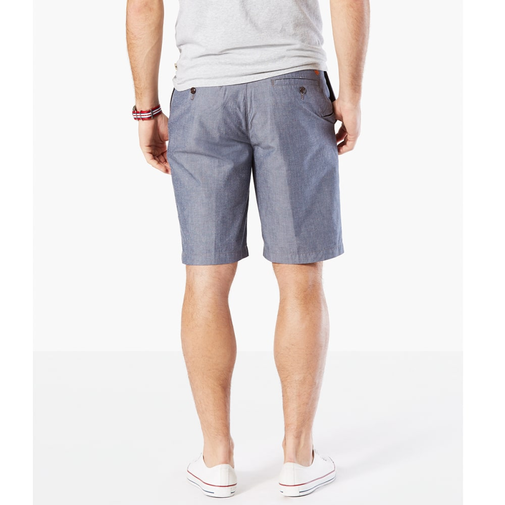 DOCKERS Men's Perfect Print Flat-Front Shorts - CLARKE CHAMBRAY-0666