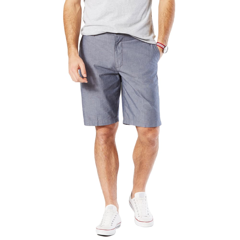 DOCKERS Men's Perfect Print Flat-Front Shorts - CLARKE CHAMBRAY-0666