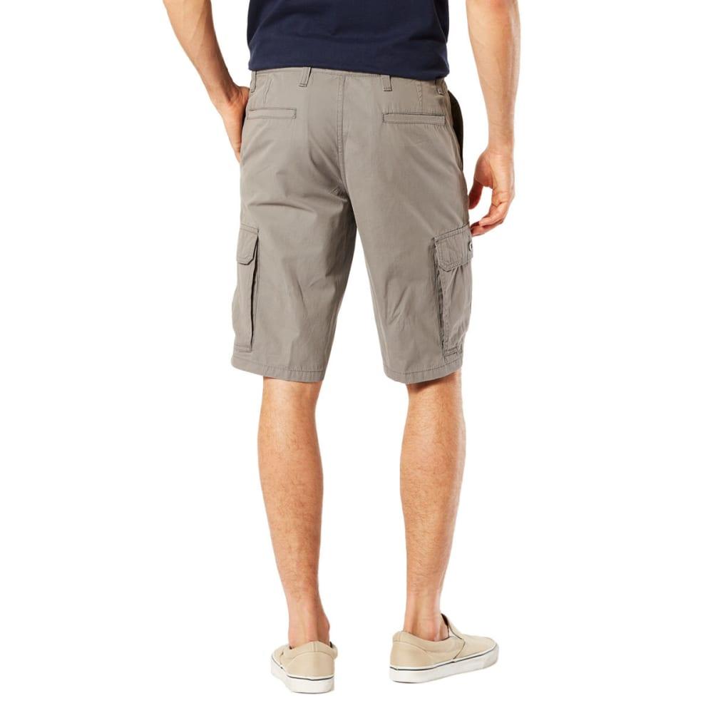 DOCKERS Men's Stretch Poplin Cargo Shorts - BURMA GREY - 0002