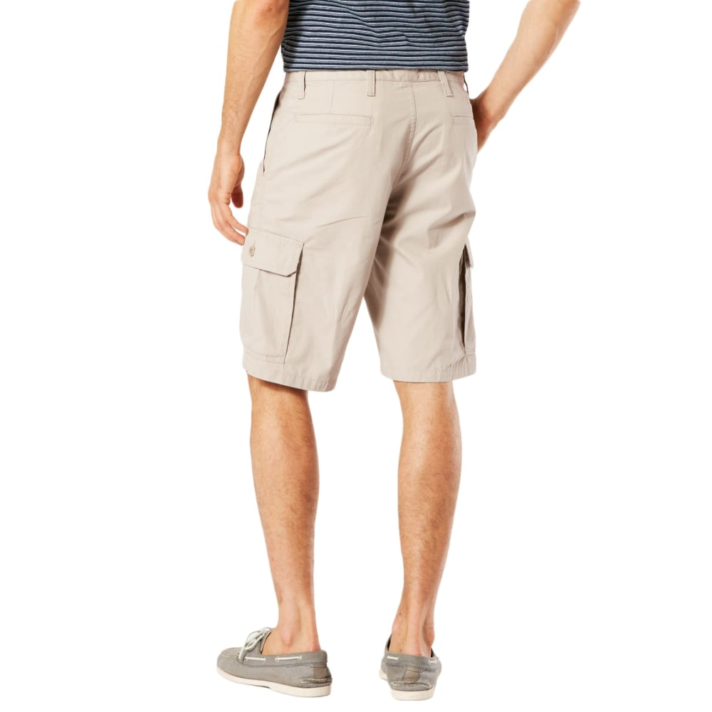 DOCKERS Men's Stretch Poplin Cargo Shorts - SAFARI BEIGE - 0000