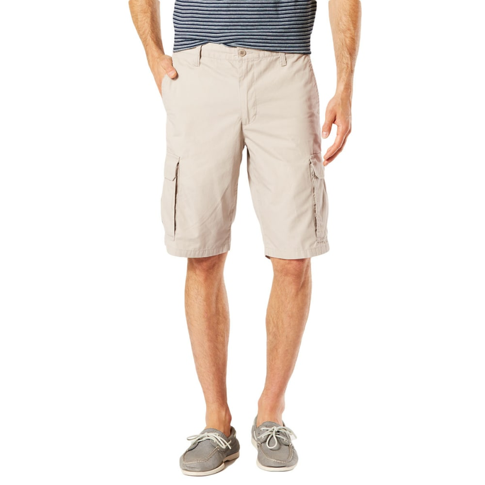 DOCKERS Men's Stretch Poplin Cargo Shorts - SAFARI BEIGE - 0000